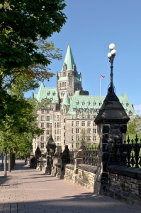 The Canadian Parliament Confederation Building in summer. photo by Michel Loiselle